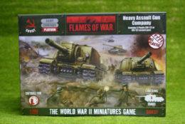 Flames of War Soviet Heavy Assault Gun Company PLASTIC 15mm SBX37
