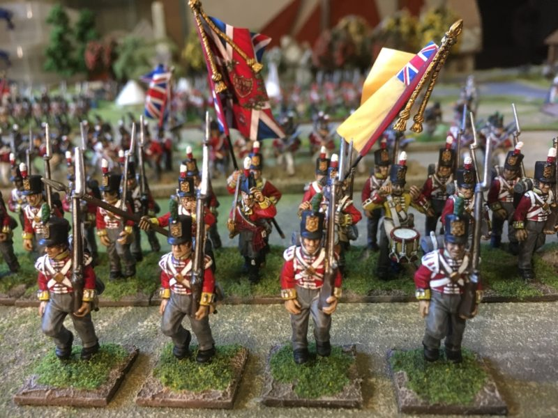 Flank Company on single 20mm square bases