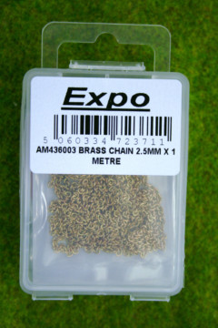 Expo Tools Brass Chain 2.5mm links x 1 metre length AM436003