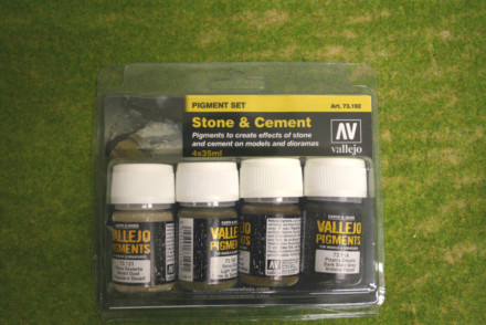 Vallejo Pigments STONE & CEMENT four 35mls pot set 73192
