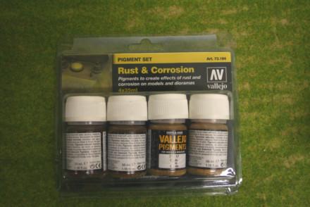 Vallejo Pigments RUST & CORROSION four 35mls pot set 73194