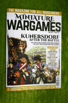 MINIATURE WARGAMES ISSUE 409 May 2017 MAGAZINE