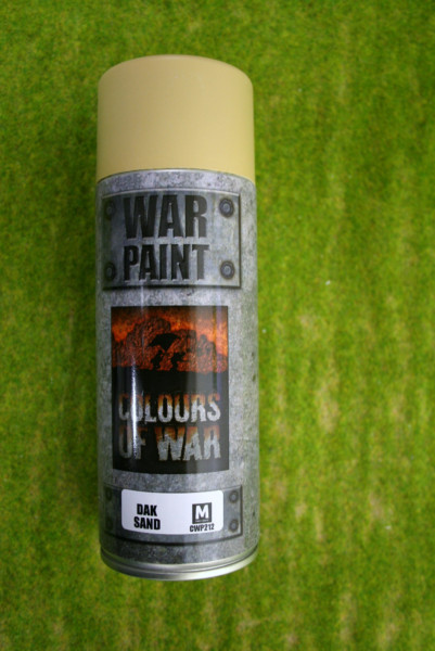 War Paint DAK SAND Colours of War Spray Paint CWP212