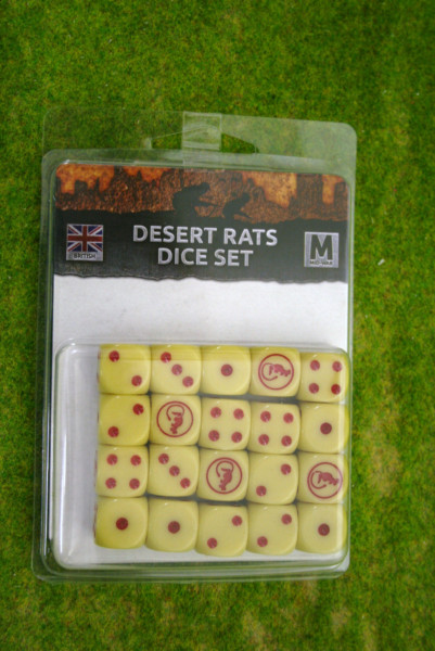 Desert Rats Dice Set Flames of War BR900