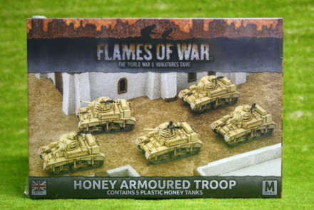 Flames of War British Honey Armoured Troop PLASTIC 15mm BBX32