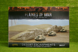 FLAMES OF WAR DESERT ESCARPMENTS painted tabletop terrain 15mm to 28mm BB217