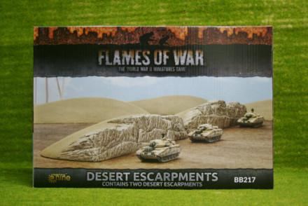 FLAMES OF WAR DESERT ESCARPMENTS painted tabletop terrain 15mm to 28mm BB217
