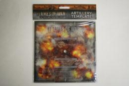 ARTILLERY TEMPLATE Flames of War AT007