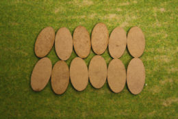 50x25mm Oval LASER CUT MDF 2mm Wooden Bases for Wargames