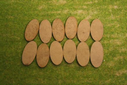 50x25mm Oval LASER CUT MDF 2mm Wooden Bases for Wargames
