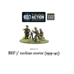 BEF 3″ Medium Mortar Bolt Action Warlord Games 28mm