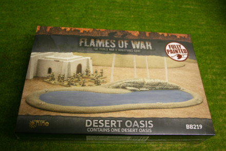 FLAMES OF WAR DESERT OASIS painted tabletop terrain 15mm to 28mm BB219