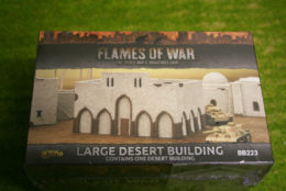 FLAMES OF WAR LARGE DESERT BUILDING painted tabletop terrain 15mm to 28mm BB223