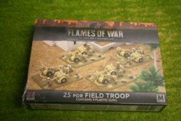 Flames of War 25PDR FIELD TROOP PLASTIC 15mm BBX33