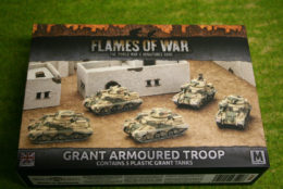 Flames of War GRANT ARMOURED TROOP PLASTIC 15mm BBX37