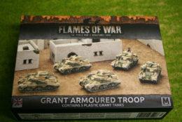 Flames of War GRANT ARMOURED TROOP PLASTIC 15mm BBX37