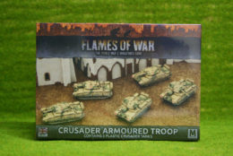 Flames of War CRUSADER ARMOURED TROOP PLASTIC 15mm BBX39