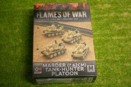 Flames of War MARDER 7.62CM TANK-HUNTER PLATOON 15mm GBX101