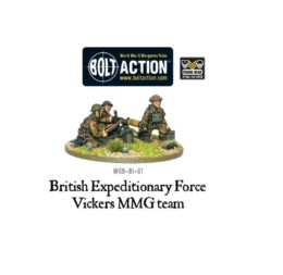 BEF Vickers MMG Team Bolt Action Warlord Games 28mm
