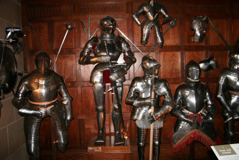Armour on display in the Great Hall
