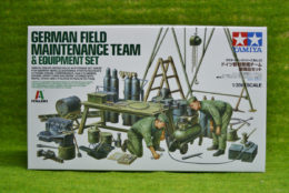 Tamiya German FIELD MAINTENANCE TEAM AND EQUIPMENT 1/35 Scale Kit 37023
