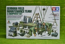 Tamiya German FIELD MAINTENANCE TEAM AND EQUIPMENT 1/35 Scale Kit 37023