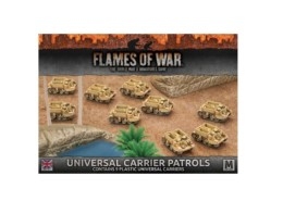 Flames of War UNIVERSAL CARRIER PATROLS PLASTIC 15mm BBX35
