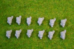 Trent Miniatures CYLINDRICAL BEARSKINS PLUME Wargames EDZ#05 28mm