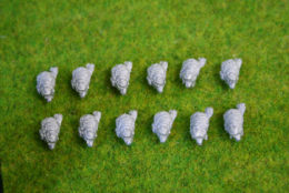 Trent Miniatures BEARSKINS FRONT PLATE AND PLUME Wargames EDZ#06 28mm