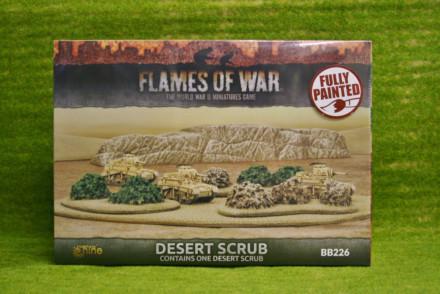FLAMES OF WAR DESERT SCRUB painted tabletop terrain 15mm to 28mm BB226