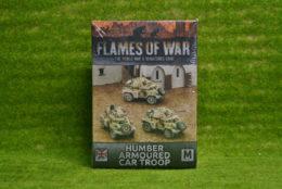 Flames of War HUMBER ARMOURED CAR TROOP BBX34