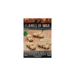 Flames of War SD KFZ 231 HEAVY SCOUT TROOP 15mm GBX100