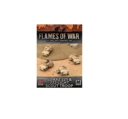Flames of War SD KFZ 221 & 222 LIGHT SCOUT TROOP 15mm GBX92