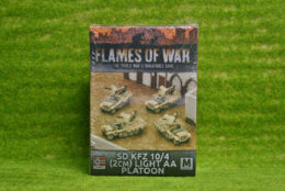 Flames of War SDKFZ 10/4 LIGHT AA PLATOON 15mm GBX94