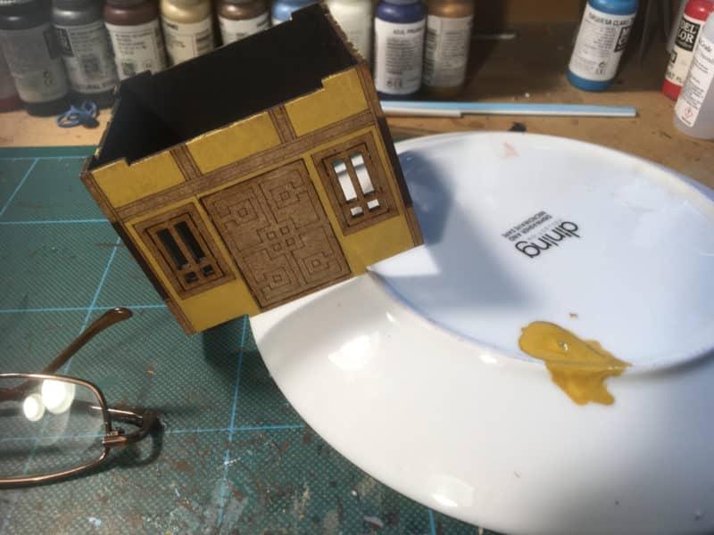 yellow ochre applied