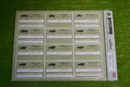 Battlegroup: LATE GERMAN DATA CARDS BGK020