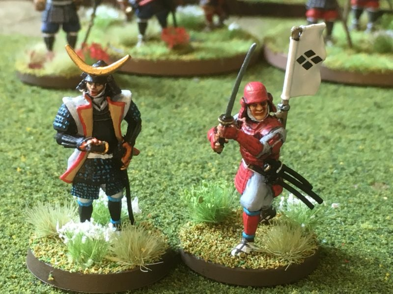My usual Samurai Team. A Limited Edition Samurai from Painting war and one from the set.