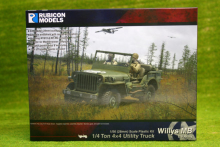 Rubicon Models Willys MB ¼ ton 4×4 Truck (US Standard) RU-280049