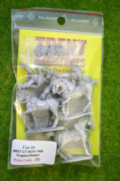 Trent Miniatures BRITISH LIGHT DRAGOONS COMMAND (Tropical Helmet) CAR23