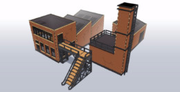 Industrial Factory Bundle #1 28mm Laser cut MDF kit I009