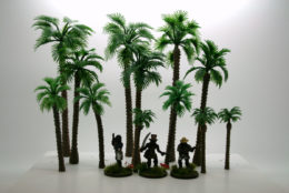Arcane Scenery Pack of PALM TREES Variant 'B' pack of 12 pieces