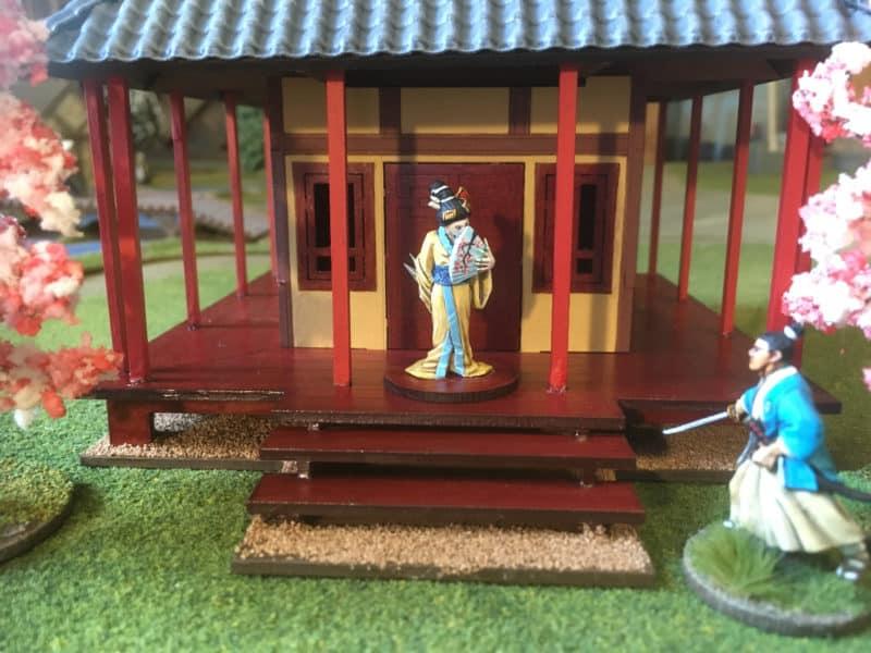 Geisha spy at the shrine.