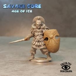 Lucid Eye Age of Ice Atlantean Boss Krixos the Indomitable IAB001 Savage Core 28mm