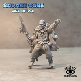 Lucid Eye Age of Ice Cro Magnon Boss Menhir Fivetusks IAB002 Savage Core 28mm