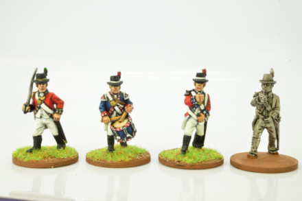 Victorious Miniatures NAPOLEONIC BRITISH LINE INFANTRY COMMAND NAPBR01 28mm