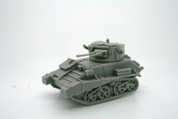 1/48 scale – 28mm WW2 VICKERS LIGHT TANK Vc with skirts 28mm Blitzkrieg miniatures