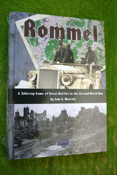 ROMMEL tabletop games of great battles in the WW2 Sam Mustafa Rules book