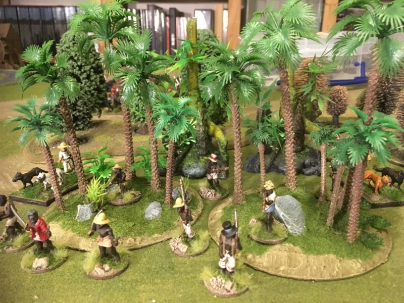 Woodland Scenics Scatter added to the bases.