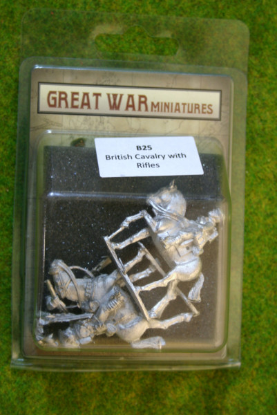 GREAT WAR MINIATURES British Cavalry w. Rifles B25