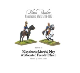 French Napoleonic Marshal Ney & Mounted French Officer Warlord Games 28mm